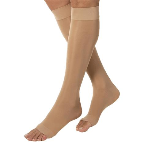 BSN Jobst Large Open Toe Knee High 30-40mmHg Extra Firm Compression Stockings in Petite