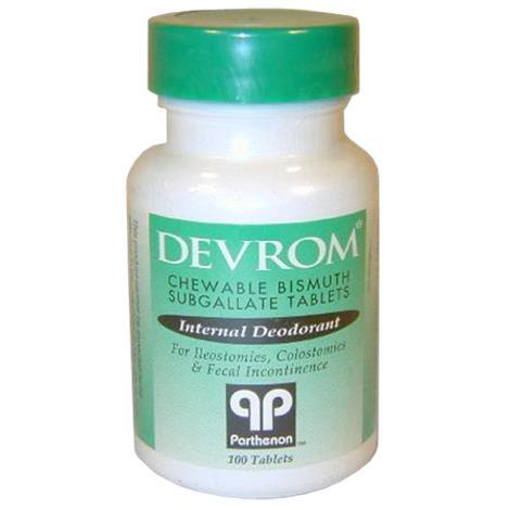 Parthenon Devrom Chewable Internal Deodorant Tablets