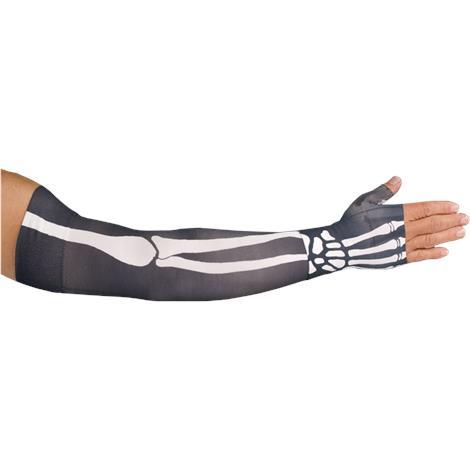 LympheDudes Bones Compression Arm Sleeve And Gauntlet