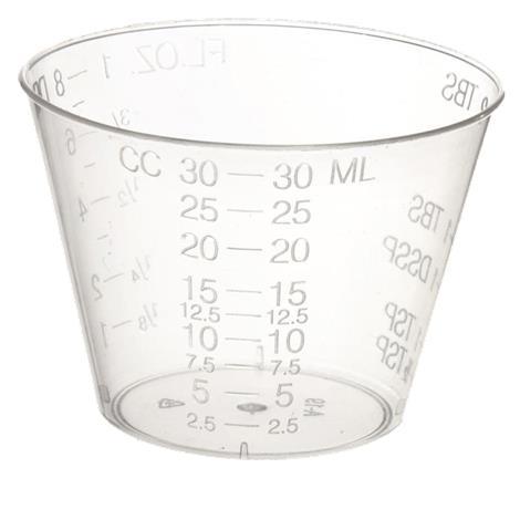 Medline Graduated Plastic Disposable Medicine Cups