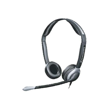 sennheiser over the head binaural premium telephone headset with noise cancelling microphone. Black Bedroom Furniture Sets. Home Design Ideas