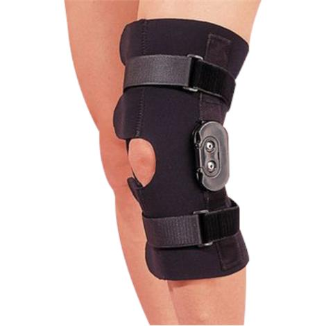 Rolyan Hinged Knee Wrap Without Pop Cut-Out