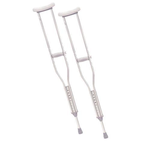 Cardinal Health Push Button Aluminium Axillary Crutch