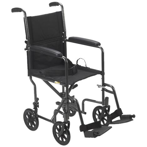 Cardinal Health Steel Transport Chair With Swing Away Foot Rest