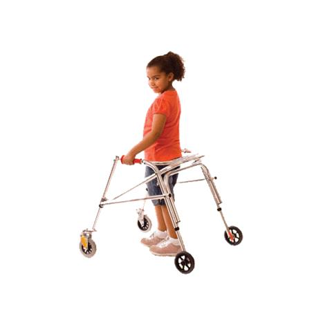 Kaye Wide Posture Control Four Wheel Walker With Installed Silent Rear Wheel For Youth