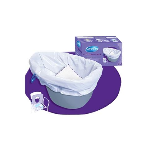 Cleanis Carebag Commode Liner with Super Absorbent Pad