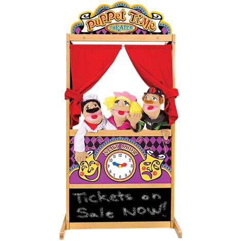 Melissa & Doug Deluxe Wooden Puppet Theater