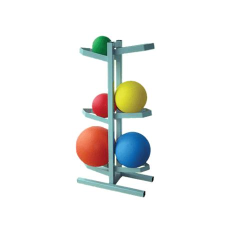 Ideal Plyometric Free Standing Medicine Ball Storage Rack