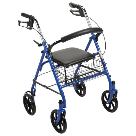 Drive Durable Steel Four Wheel Rollator With Fold Up Removable Back