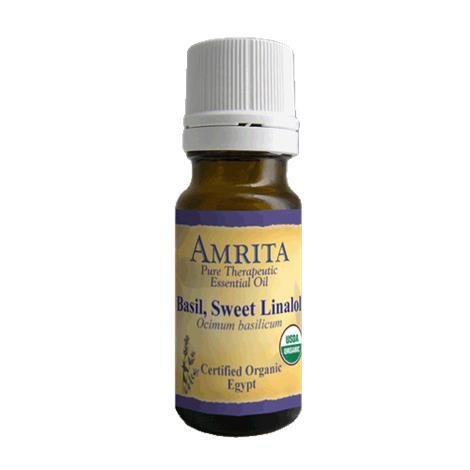 Amrita Aromatherapy Basil Sweet Linalol Organic Essential Oil