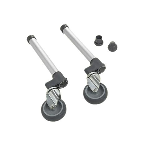 Invacare Three Inch Swivel Wheels with Rear Glide Tips