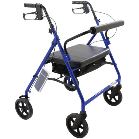 ConvaQuip Bariatric Safety Four Wheels Rollator With Padded Seat
