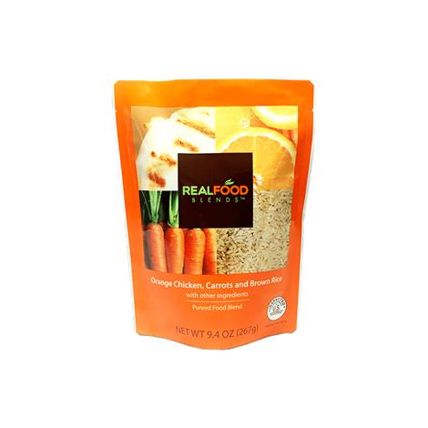 Real Food Orange Chicken Carrots and Brown Rice Blenderized Meal