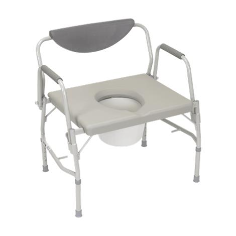 Drive Deluxe Bariatric Drop-Arm Bedside Commode Chair