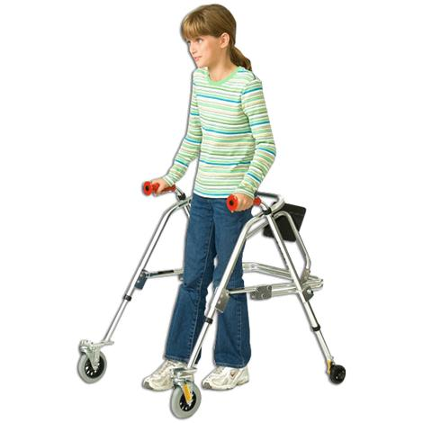 Kaye PostureRest Four Wheel Walker With Seat For Pre Adolescent