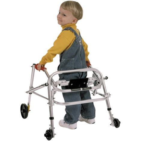 Kaye PostureRest Four Wheel Walker With Seat, Front Swivel And Silent Rear Wheel For Small Children