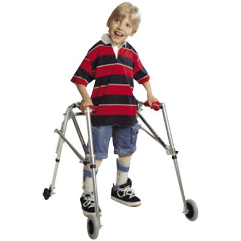 Kaye PostureRest Four Wheel Walker With Seat And Installed Silent Rear Wheel For Pre Adolescent