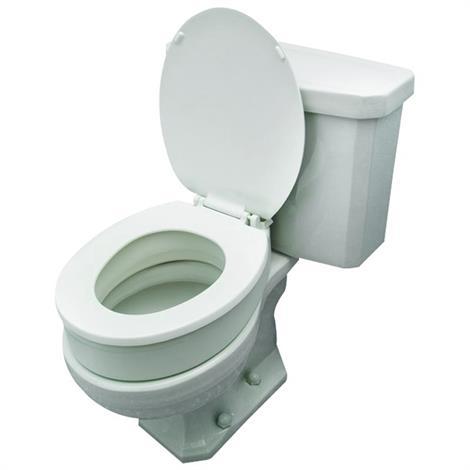 essential medical toilet seat riser   raised toilet seats