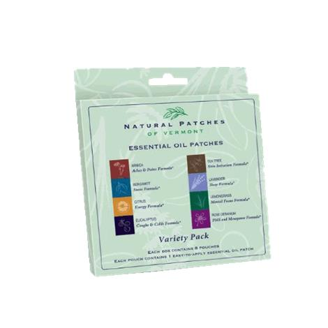 Natural Patches Of Vermont Variety Pack Essential Oil Patches