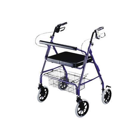 ITA-MED Four Wheel Heavy Duty Aluminum Rollator with Loop Brakes