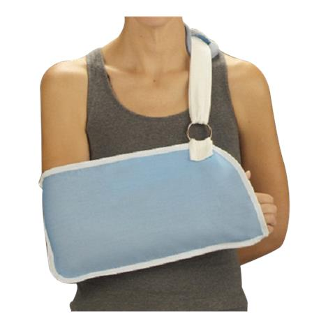 DeRoyal Light Blue Arm Sling with Hook and Loop Closure