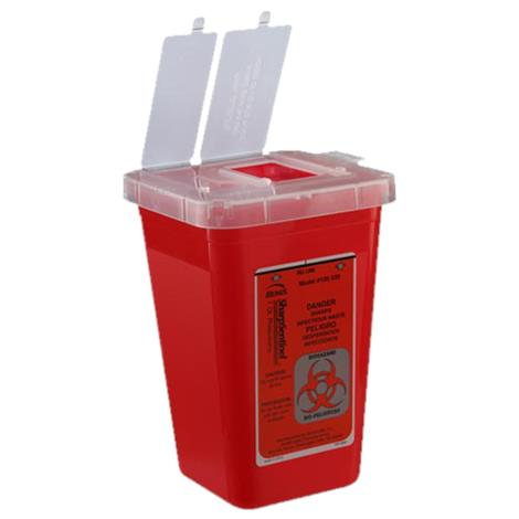 Cardinal Health Phlebotomy One Quart Sharps Container With Attached Top And Dual Openings