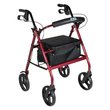 Drive Fold-Up and Removable Back Support Aluminum Rollator with Flip-Up Seat