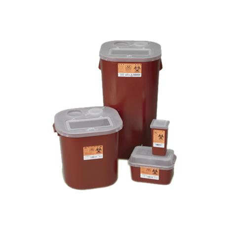 Medical Action Biohazard Stackable Sharps Container with Locking Lid