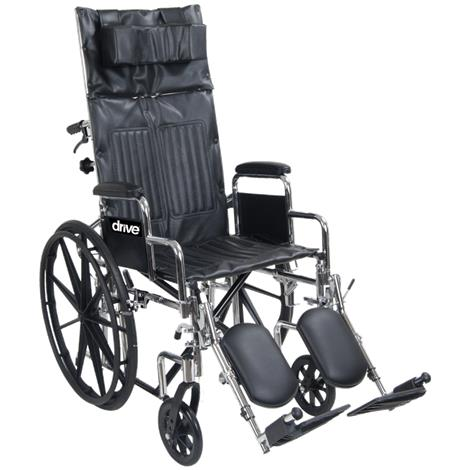 Drive Chrome Sport Full-Reclining Wheelchair With Detachable Desk Arm
