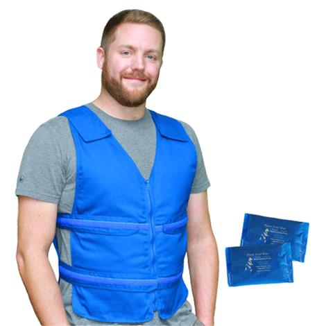 Polar Kool Max Adjustable Body Cooling Zipper Vest with Cooling Packs