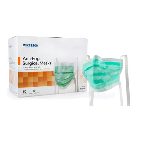 McKesson Pleated Ties Surgical Mask With Eye Shield