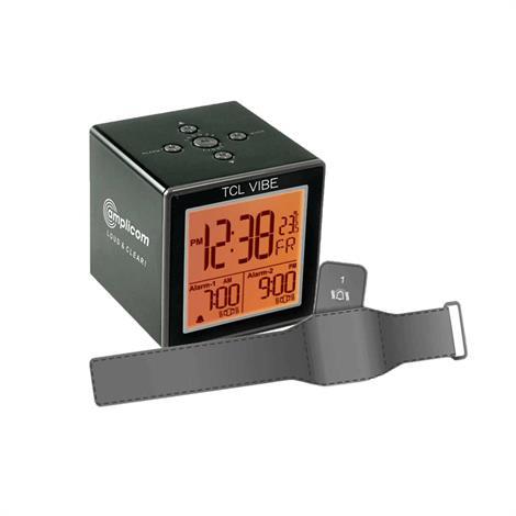 Amplicom TCL Vibe Travel Alarm Clock With Vibration Wristband