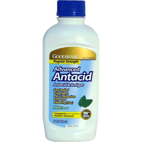 GoodSense Regular Strength Mint Flavored Liquid Antacid