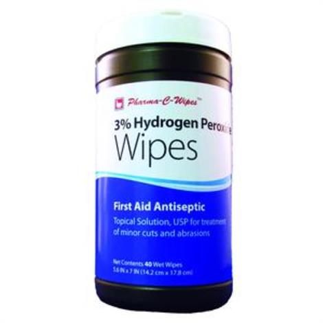 Pharma-C-Wipes Hydrogen Peroxide First Aid Wipe
