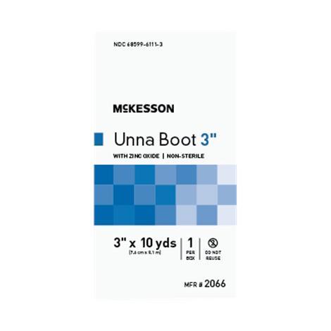 McKesson Non-Sterile Cotton Unna Boot Compression Bandage With Zinc Oxide