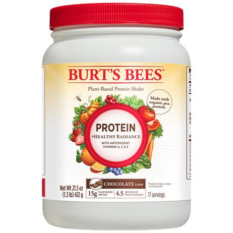 Burts Bees Plant-Based Chocolate Protein + Healthy Radiance Shake