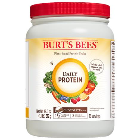 Burts Bees Plant-Based Chocolate Daily Protein Shake