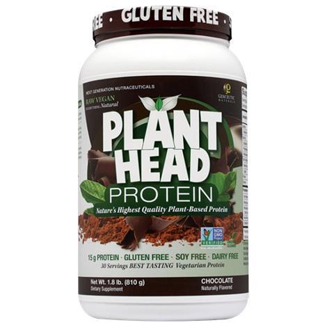 Genceutic Naturals Plant Head Protein Powder Chocolate