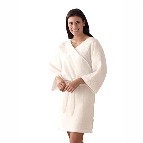 Medline Mammography Style Square Waffle Weave Robe