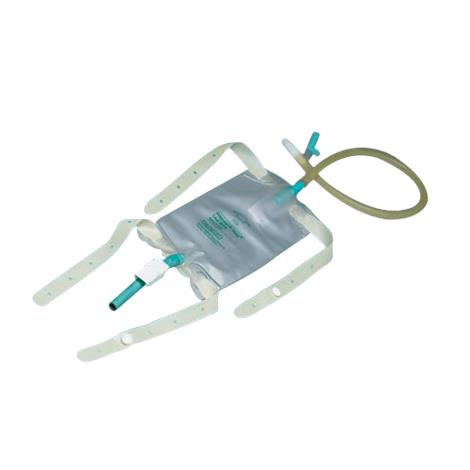 Bard Dispoz-A-Bag Leg Bags With Flip Flo Valve, Latex Straps, Extension Tubing And Drainage Tube