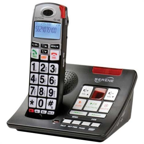 Serene Innovations CL60A Cordless Amplified Phone With Answering Machine