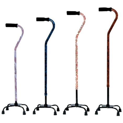 Essential Medical Designer Small Base Quad Cane