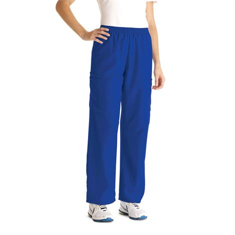 Medline PerforMAX Unisex Elastic Waist Scrub Pants - Royal Blue