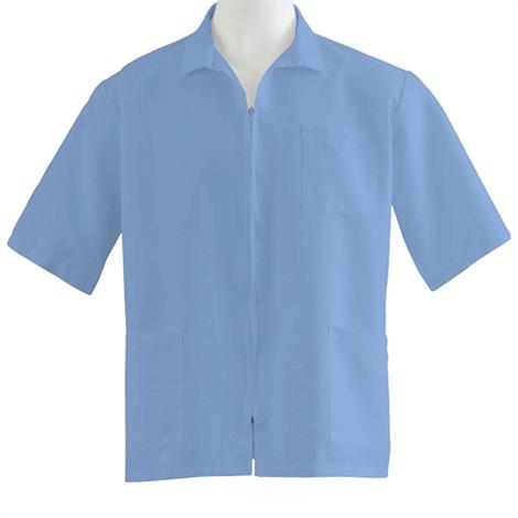 Medline Unisex Zip Front Smock-Light Blue