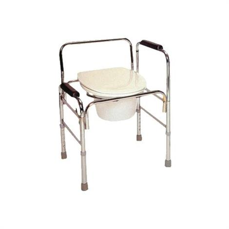Rose healthcare drop arm steel commode commode chairs - Commode industrielle metal ...