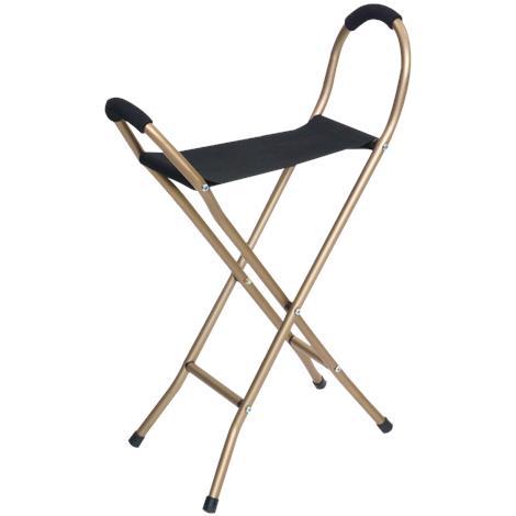 Essential Medical Endurance Four Legged Folding Seat Cane