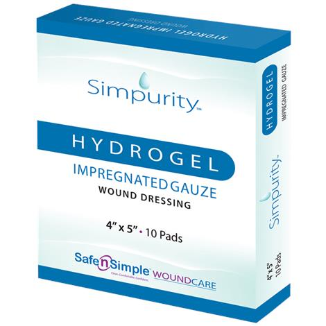 Safe N Simple Simpurity Impregnated Hydrogel Gauze Wound Dressing