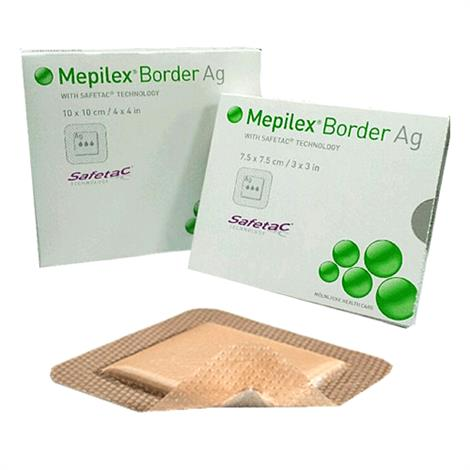 Molnlycke Mepilex Border Ag Antimicrobial Foam Dressing