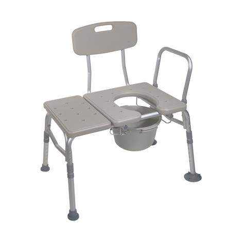 Drive Combination Plastic Transfer Bench with Commode Opening