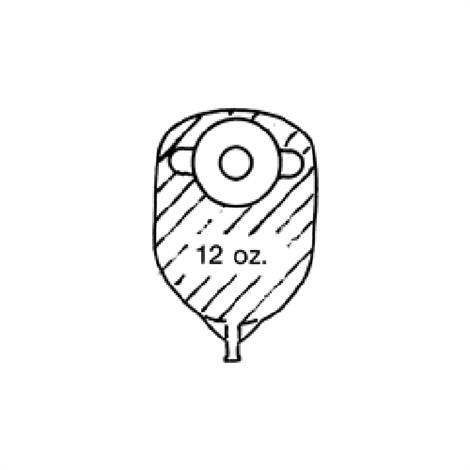 Nu-Hope Hi-Pockets Brief-Size One-Piece Deep Convex Pre-Cut Opaque Urinary Pouch
